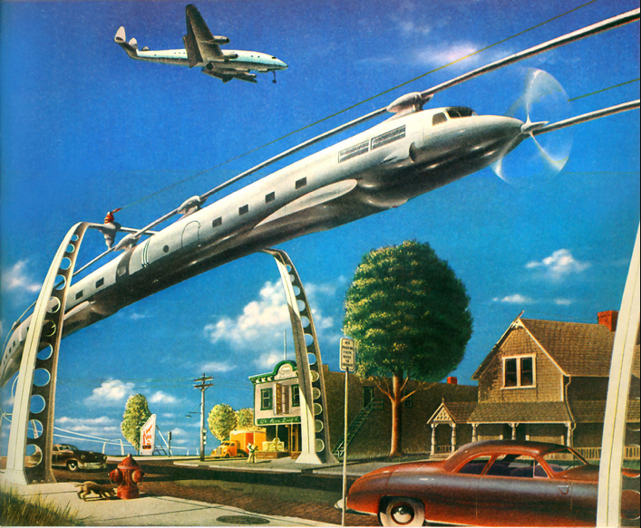 Did you ever notice how visions of the future were seriously motivated by public transportation? And yet we never got behind the idea of mass transit being the way to go.