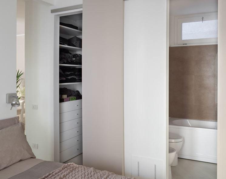 cabina armadio in cartongesso  Mini bath nel 2019  Bedroom, Home e Bathroom
