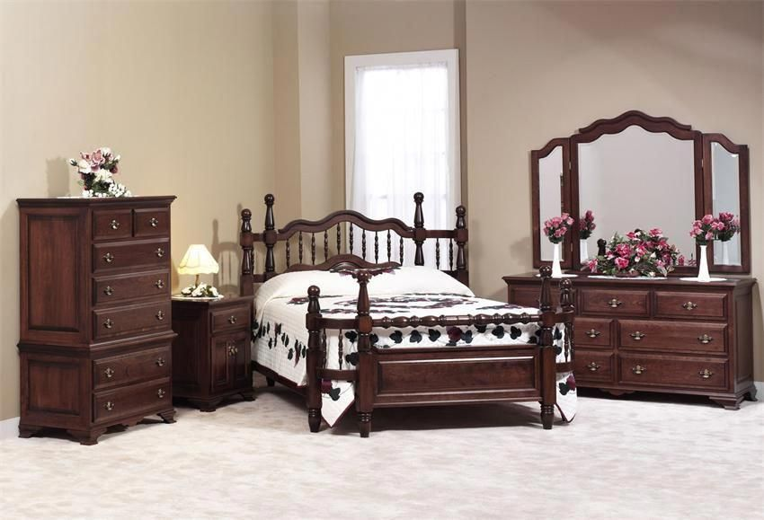 Amish Wrap Around Bedroom Furniture Set In Maple Wood Furnituresets