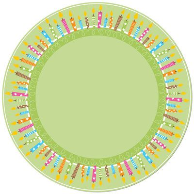 Creative Imaginations - Birthday Bliss Collection - 12 x 12 Glitter Die Cut Paper - Candles Circle