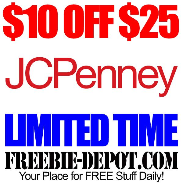 FREE JCPenney Rebate 10 OFF 25 LIMITED TIME OFFER with