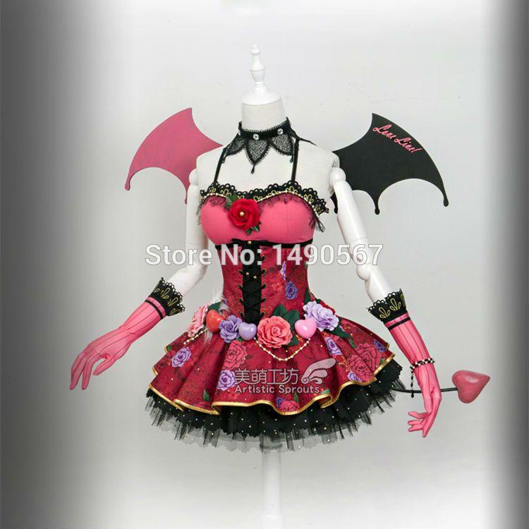 Love Live Minami Kotori Devil Ver Cos Dress Cosplay Costume Halloween Costumes