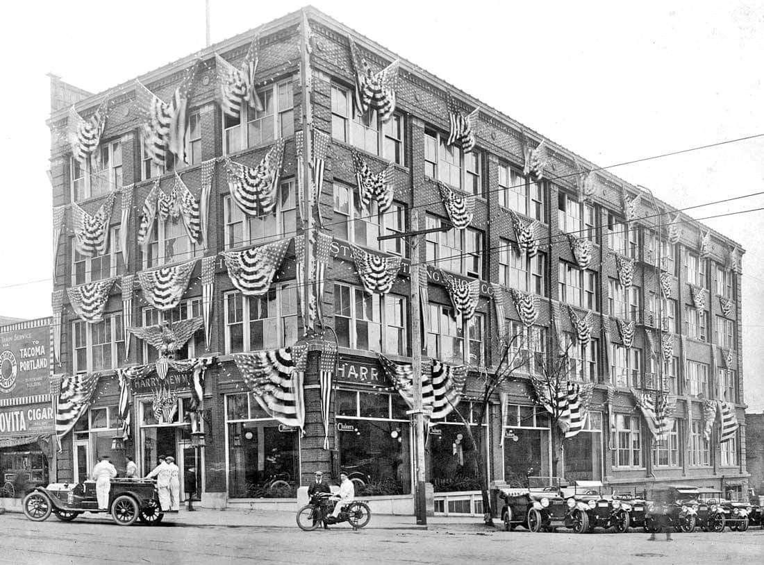 Harry Newman Chalmers auto dealership, 7th and Grand