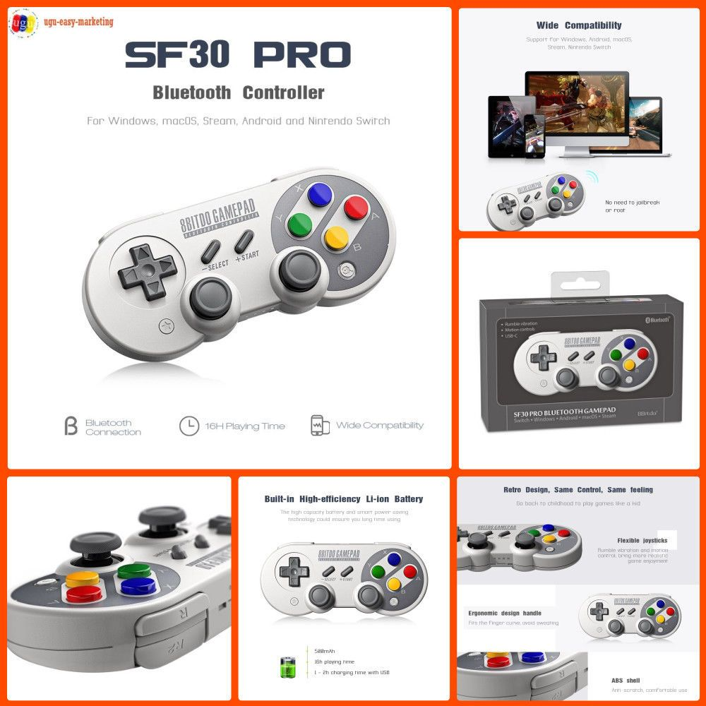 8Bitdo SF30 Pro Wireless Gamepad Bluetooth Controller