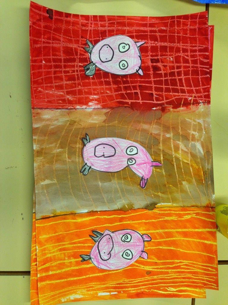 Les Trois Petit Cochons Art Visuel : trois, petit, cochons, visuel, Épinglé, Maternelle