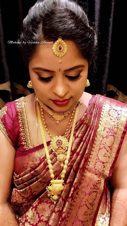 Our Client Manjushree Glows For Her Seemantha (baby Shower) Ceremony.  Makeup And Hairstyle