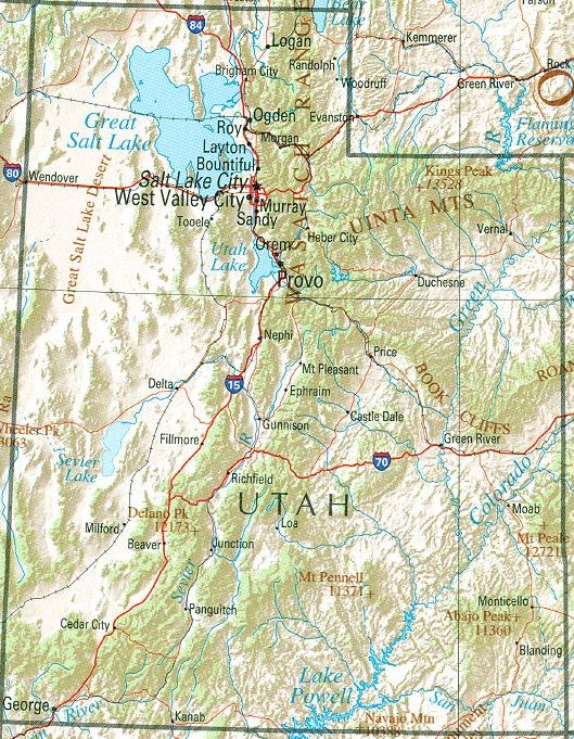 Utah Hiking Places Come On Spring And Summer Utah Map Utah Attractions Utah Travel