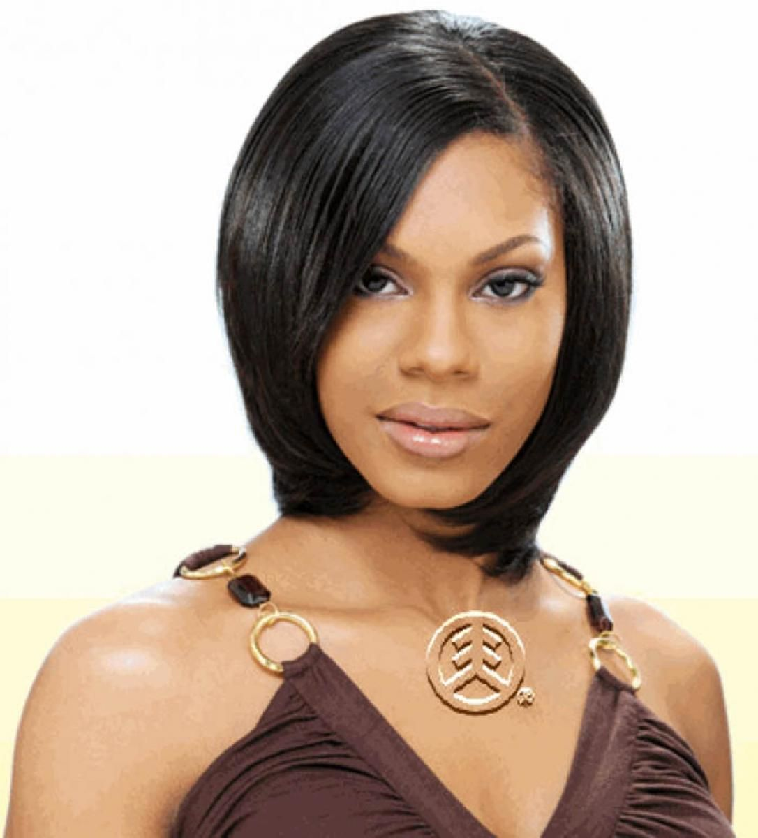 tremendous short bob straight haircut african american | 5