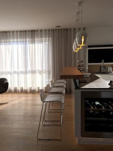 Moderne Küchen Ideen, Design und Bilder - küche mit bar