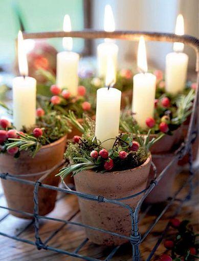 ideas caseras decoracin navidad centros de mesa