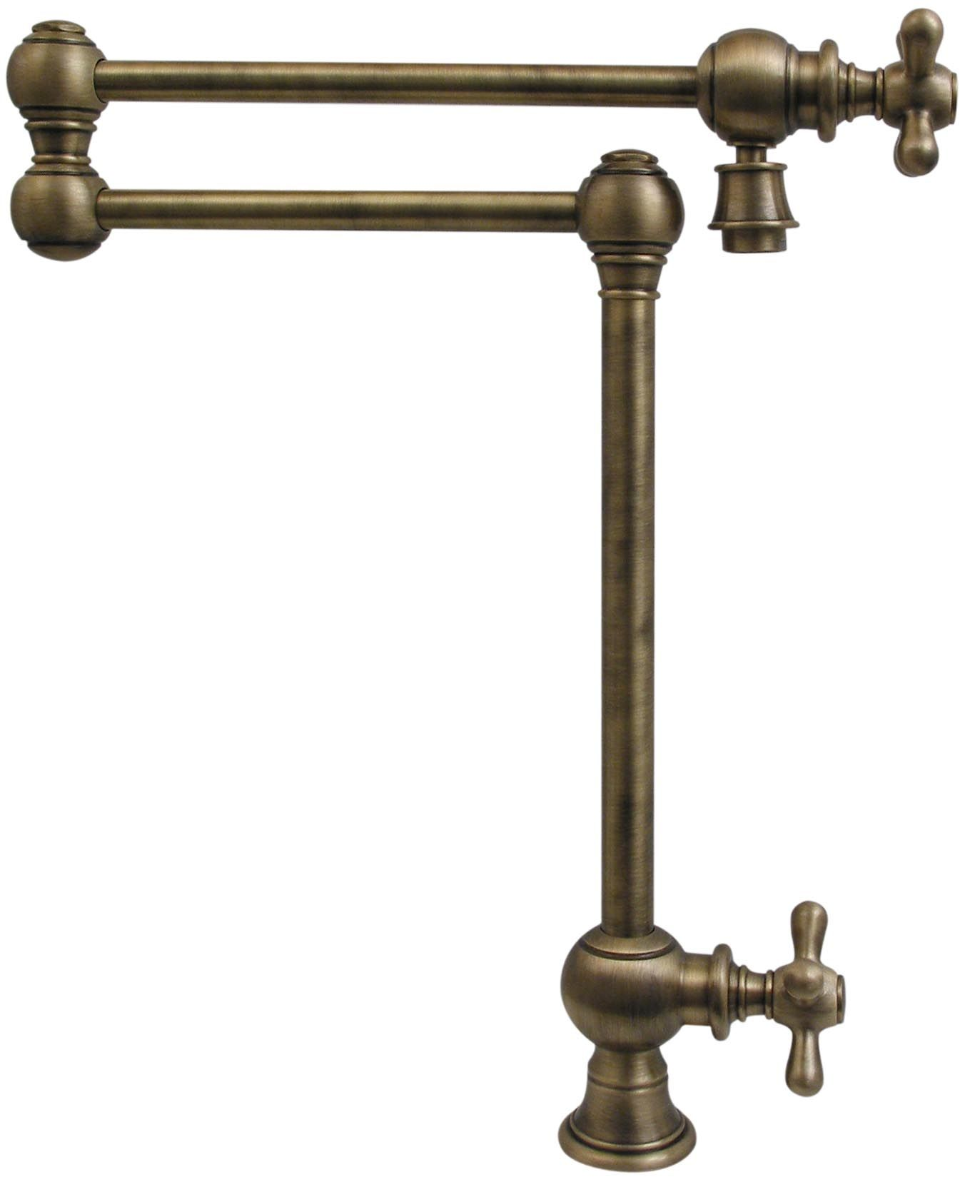 Patented Traditional Deck Mount Vintage Iii Pot Filler Faucet Whkpfdcr3 9555 With Cross Handle Shown In Anti Pot Filler Pot Filler Faucet Antique Brass Faucet