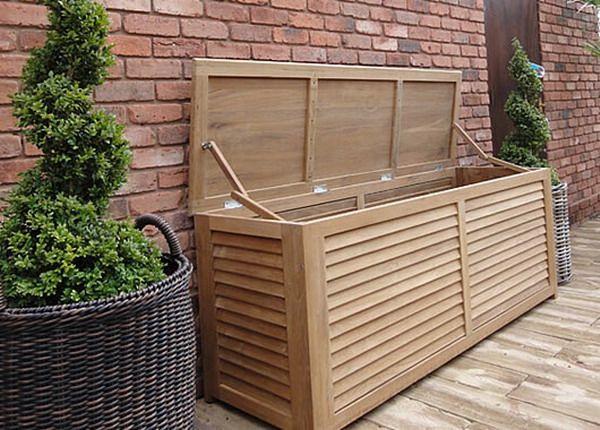 Outdoor Patio Cushion Storage Teak Wood