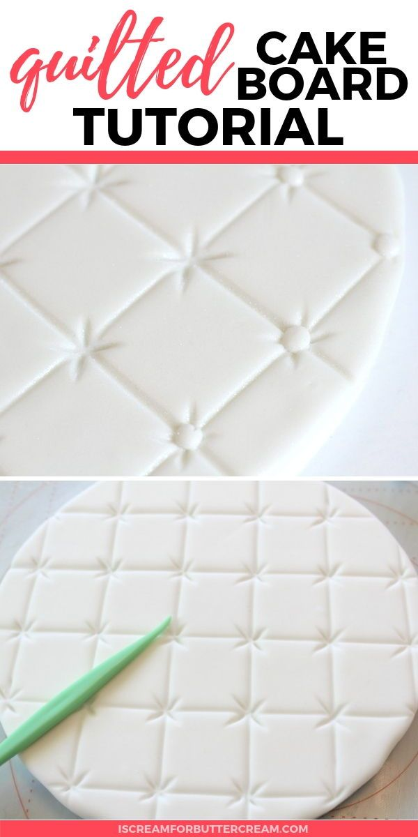 Tips for Cake Boards #fondant