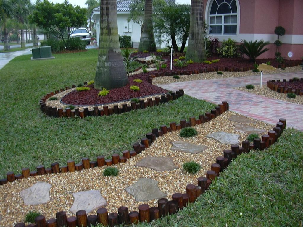 Landscaping Designs garden decorating ideas with stones | landscape designs, south