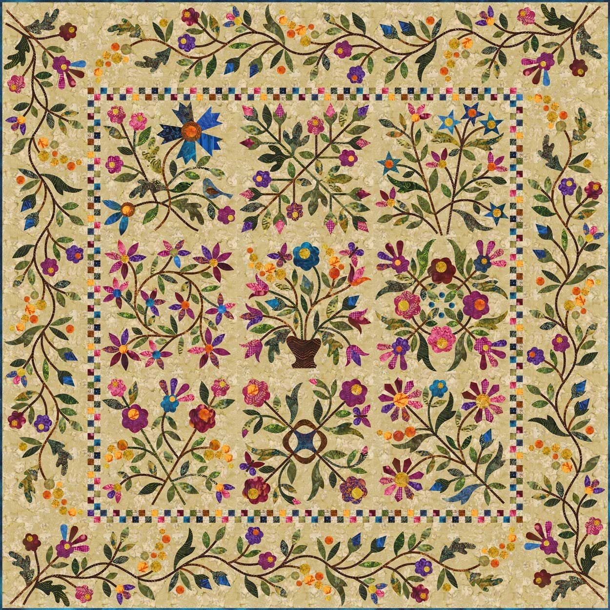 Spring Bouquet By Edyta Sitar Of Laundry Basket Quilts I Want To