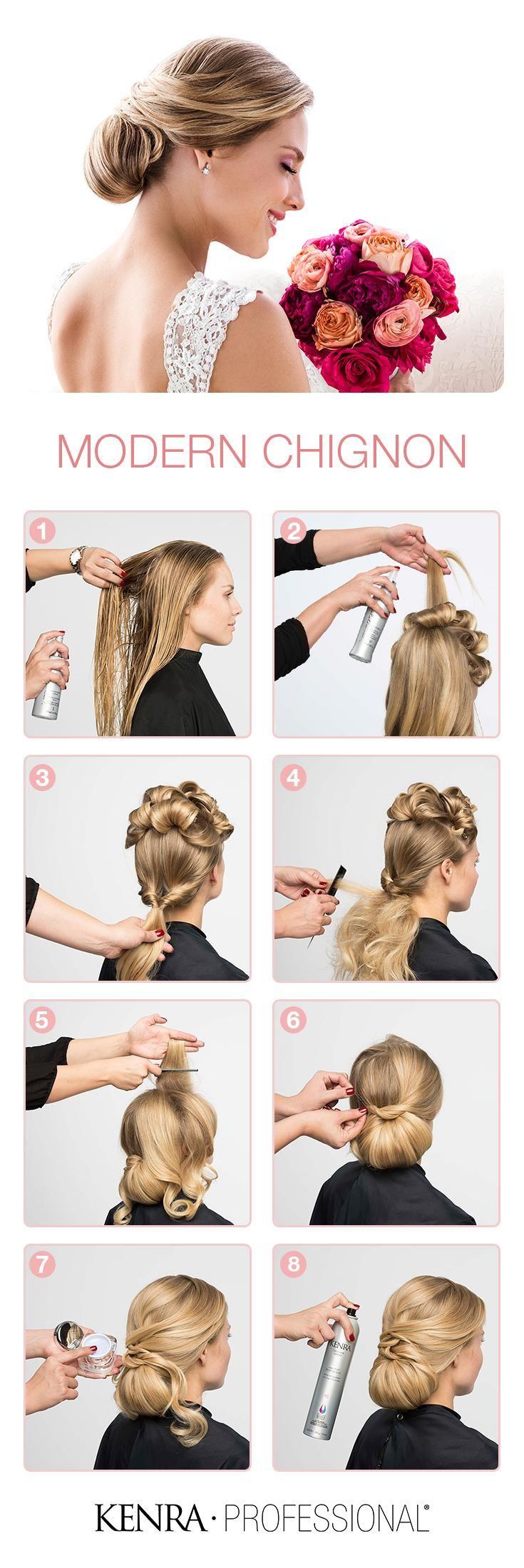 Topuz yapımı | ❥ Saç Şekillendirme ✄ | Pinterest | Chignon wedding ...