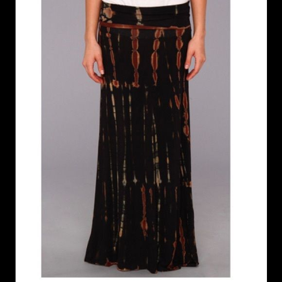 "TIE DYED MAXI SKIRT Banded waist. 95% rayon. 5% spandex. Fits sizes 4-8. Skirt length is 40"". Waist is 24"". NO TRADES. Reasonable offers made through the ""offer"" feature are welcomed and will be considered. Culture Phit Skirts Maxi"