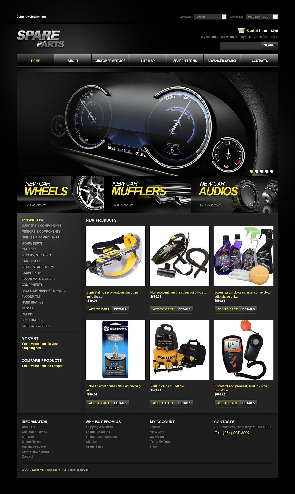 Spare Parts Magento Theme