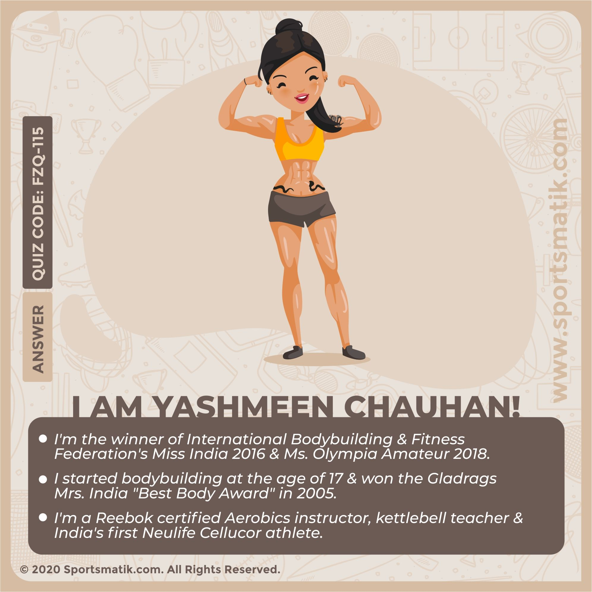 I Am Yashmeen Chauhan In 2020 Sports Quiz Online Contest Sport Quotes