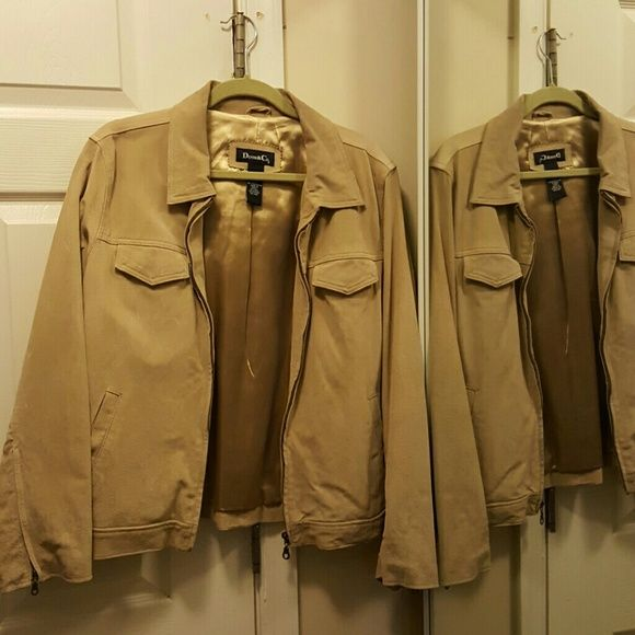 Washable suede jacket Denim & company washable suede jacket in tan. The jacket is lined and a size large. Fit is true to size. Some snagging on inner lining , no tearing. Denim & Company  Jackets & Coats Blazers