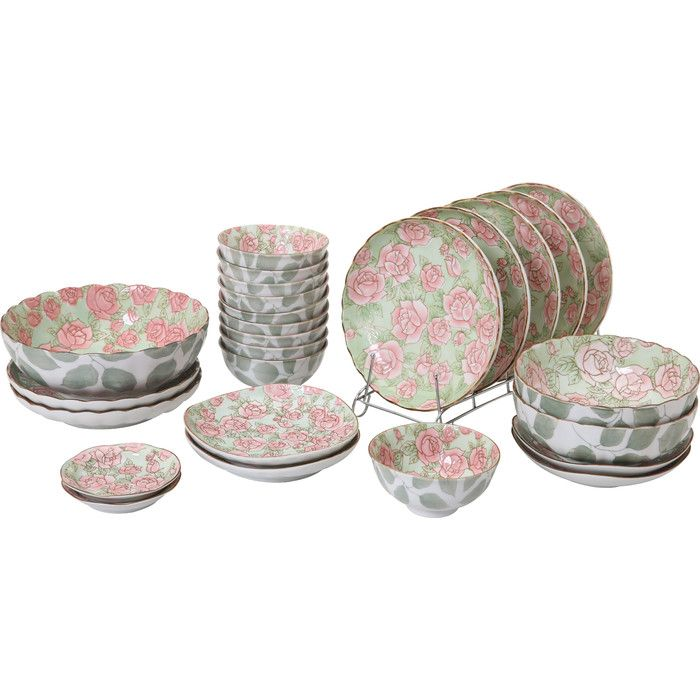 Rose 36 Piece Dinnerware Set  by Auratic Inc.  $130.00