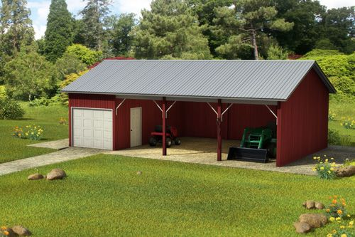 Pole barns custom building package kits pole barns for Barn house plans kits