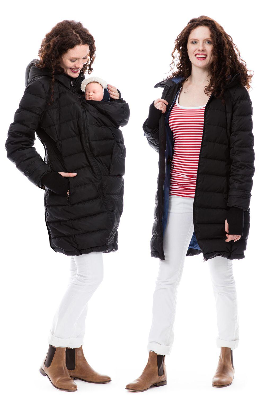 Winter Jacke 4in1 In Schwarz Ein Echtes Multitalent Fur Euch Und Eure Kleinen In Den Kalten Herbst Und Wintertagen Tragejacke Winterjacken Jacken