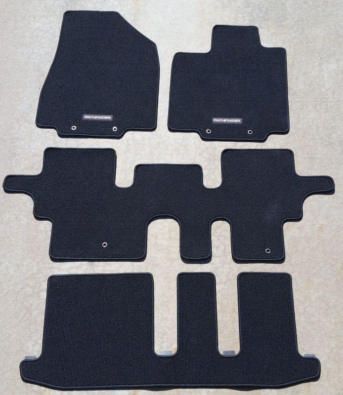 Nissan Pathfinder Charcoal Black Floor Mats Set Of 4 Oem