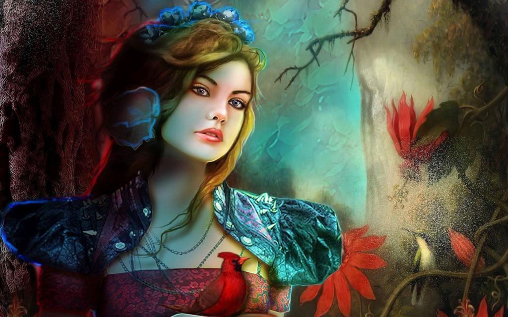 księżniczka z ptakiem