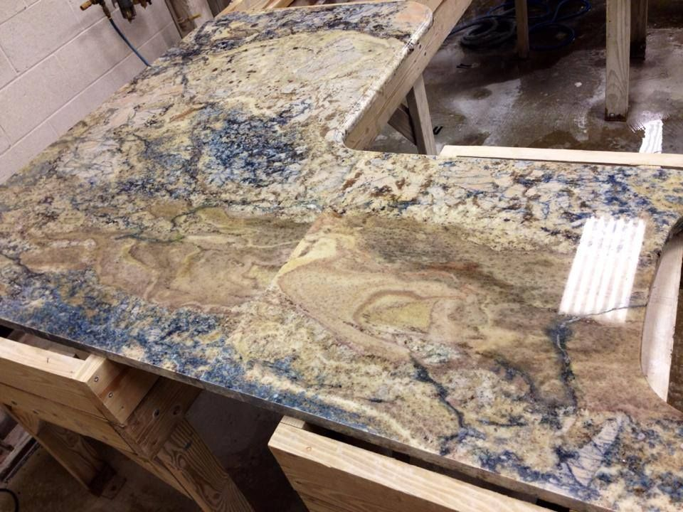Azuritti Granite Top In Our Shop! This Granite Gets Its Name From The Blue  Mineral