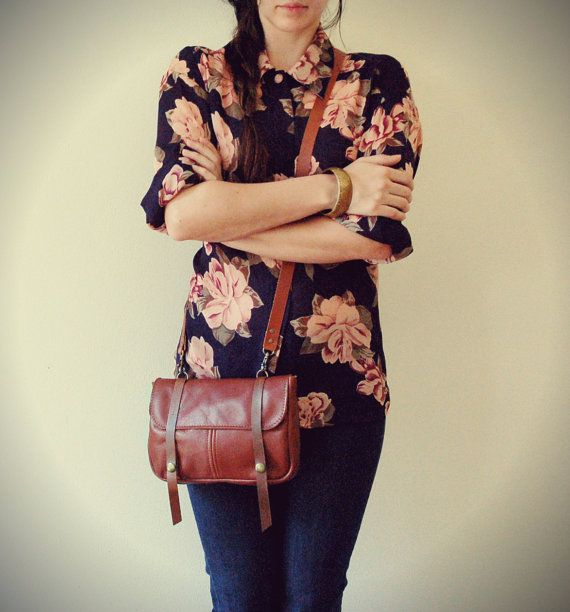 soft brown leather hip bag by   Arc of a Diver