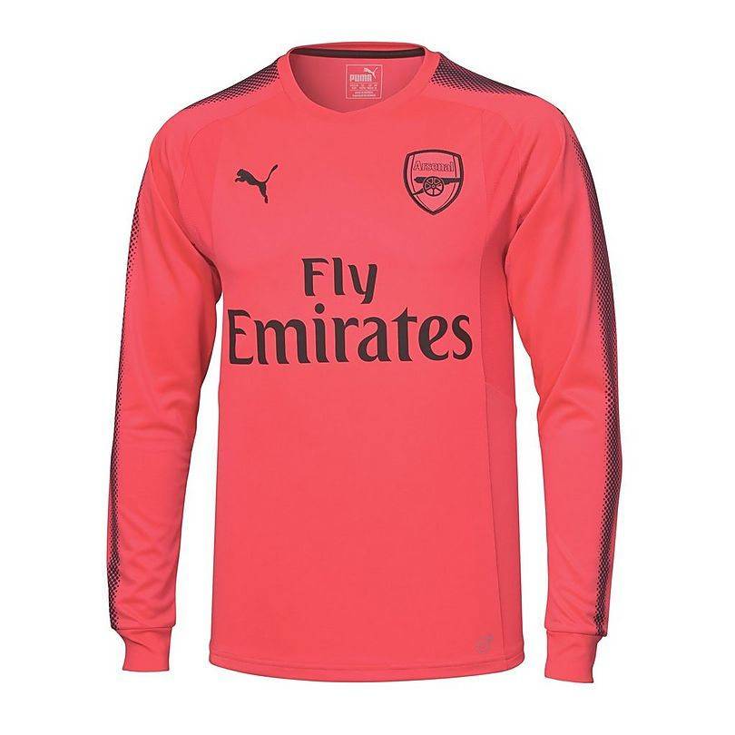 3fbaf7d0a0f Puma 17 18 Arsenal Long Sleeve Pink Goalkeeper Jersey