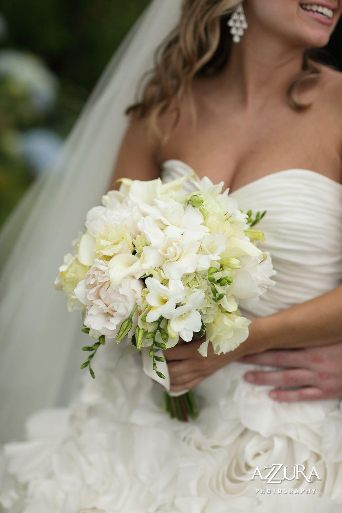 White Gardenia Peony Calla Lily Lisianthus Freesia Bridal