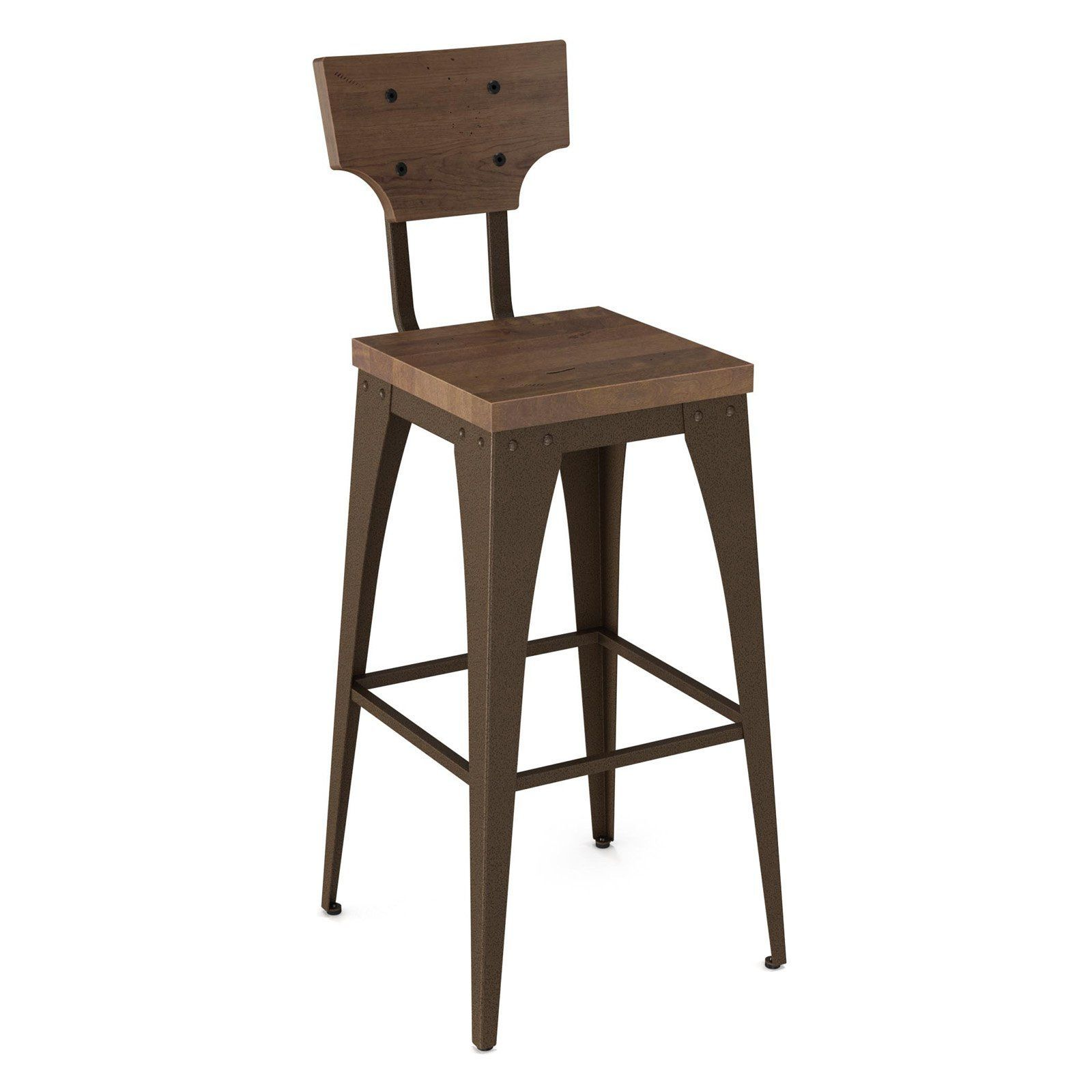 Amisco Station 30 In Bar Stool From Hayneedle Com