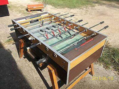 Garlando Arcade Foosball Soccer Table Machine Glass Top Used Vintage 084  Antique