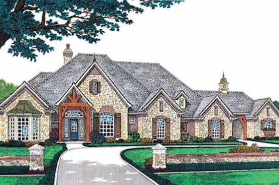 eplans french country house plan luxury living on a single level 3423 square feet and 4 bedrooms from eplans house plan code