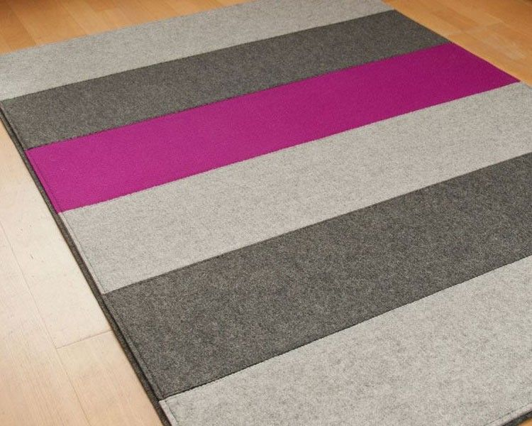 Filzteppich aus schurwolle felt carpet ideas for living