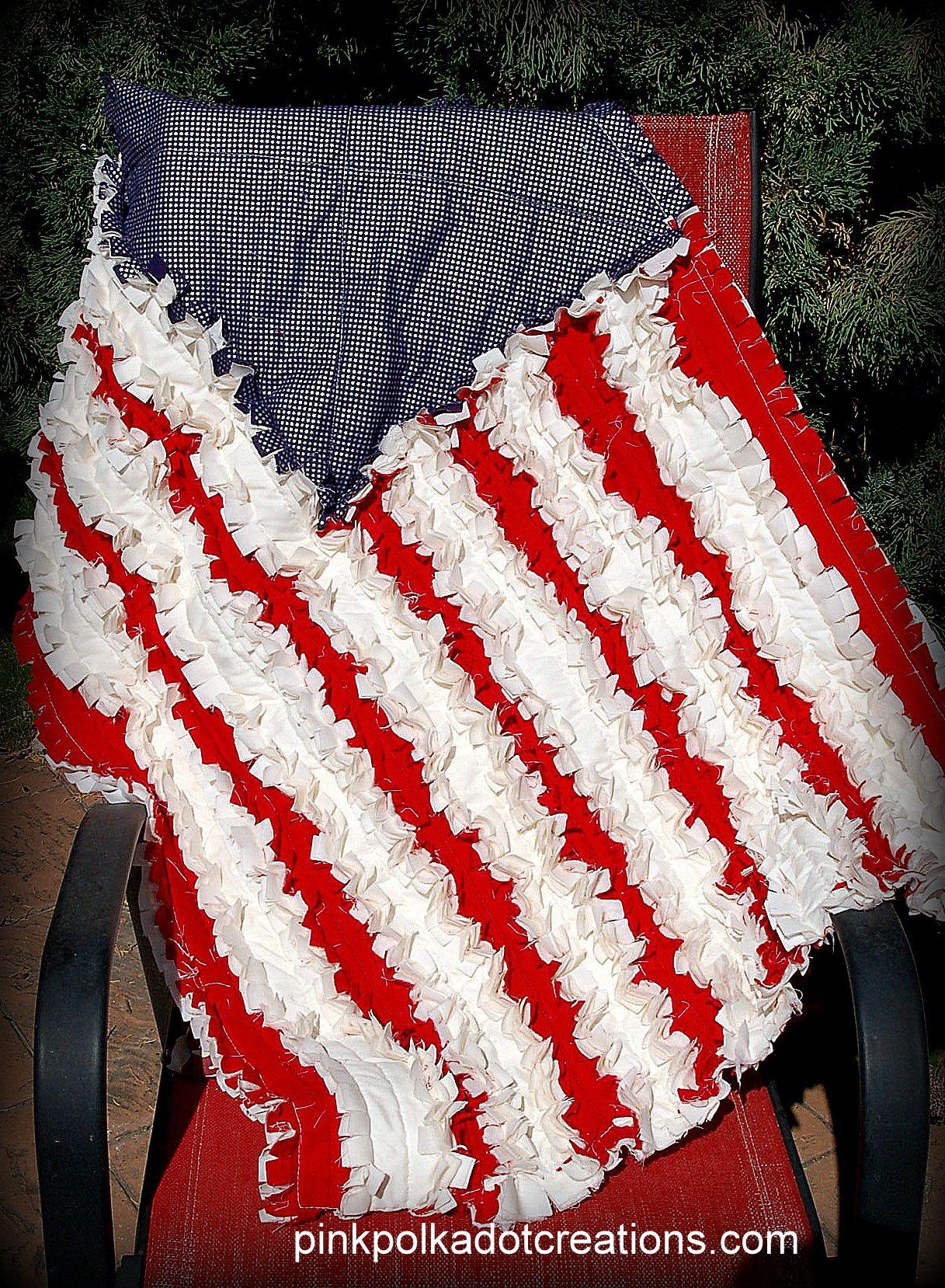 PINTEREST EASY QUILTS | Flag Rag Quilt | Pink Polka Dot Creations ... : rag quilts pinterest - Adamdwight.com