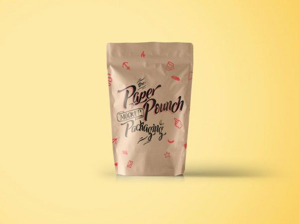 Download Packaging Paper Pouch Pouch Packaging Packaging Mockup