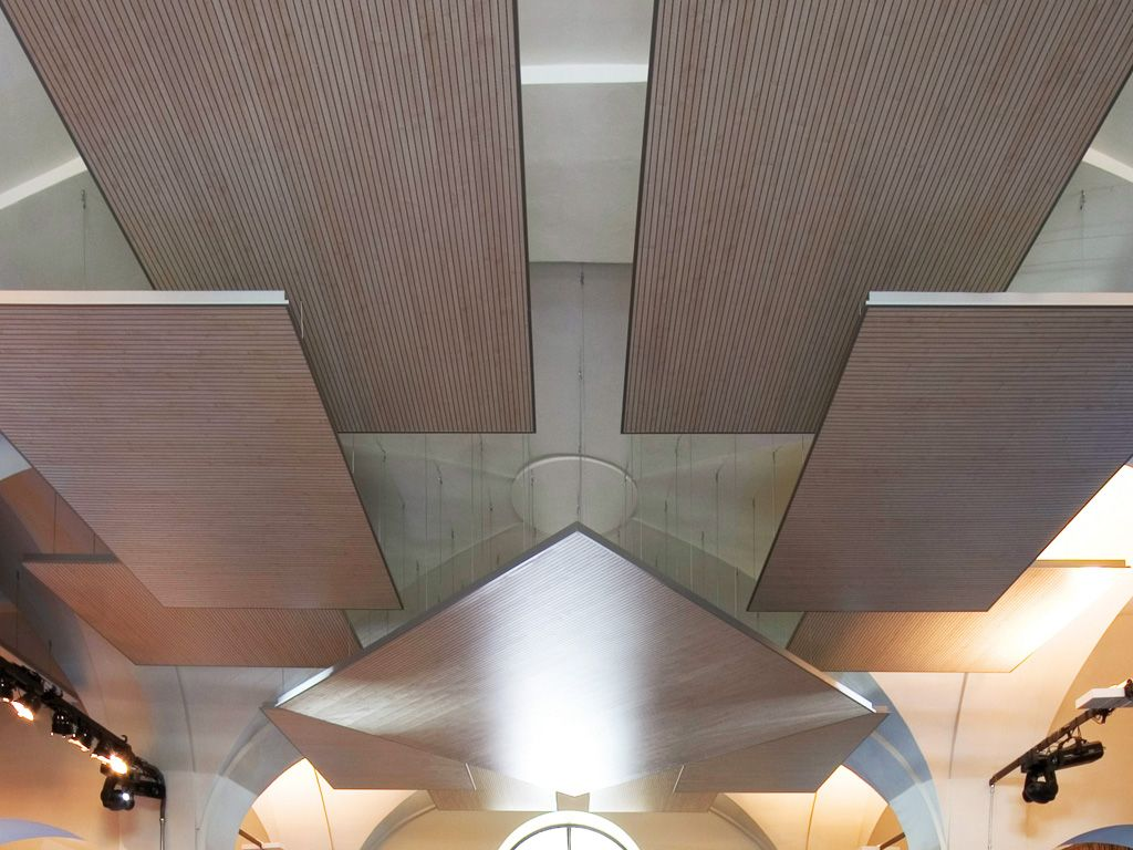 Mdf Acoustic Ceiling Clouds Isle By Patt Gruppo Fantoni Ceiling Drop Down Ceiling Recessed Lighting