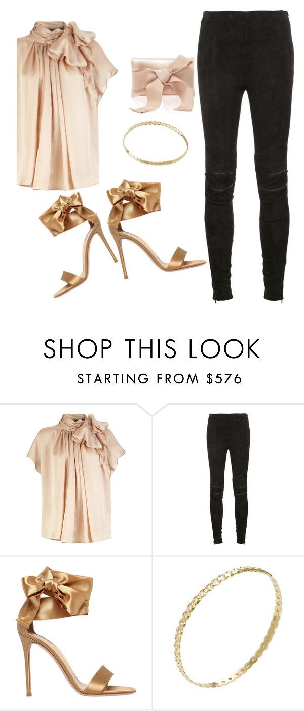 """Untitled #210"" by desiremeb ❤ liked on Polyvore featuring Yves Saint Laurent, Gianvito Rossi, Ron Hami and Oscar de la Renta"