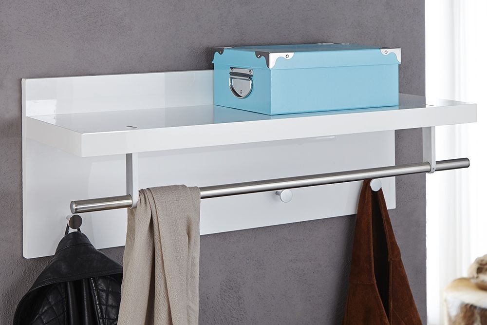 Wieszak Scienny Wall Bialy Z Polka Coat Rack Shelf Furniture Shelves