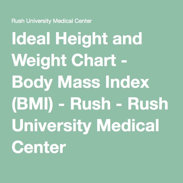 Ideal Height And Weight Chart Health Fitness Pinterest