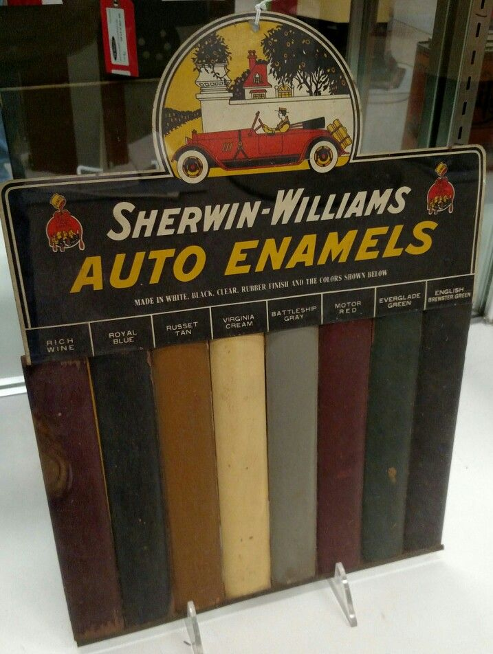Sherwin Williams Auto Paint >> Sherwin Williams Auto Enamels Paint Sign Porcelain Tin Signs