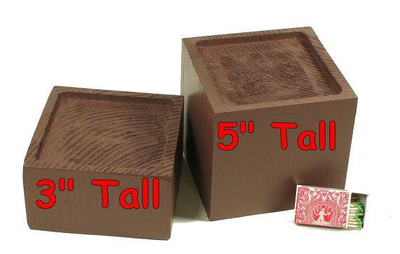 6 X 6 Solid Wood Furniture Bed Riser In 2020 Furniture Risers Solid Wood Furniture Staining Wood