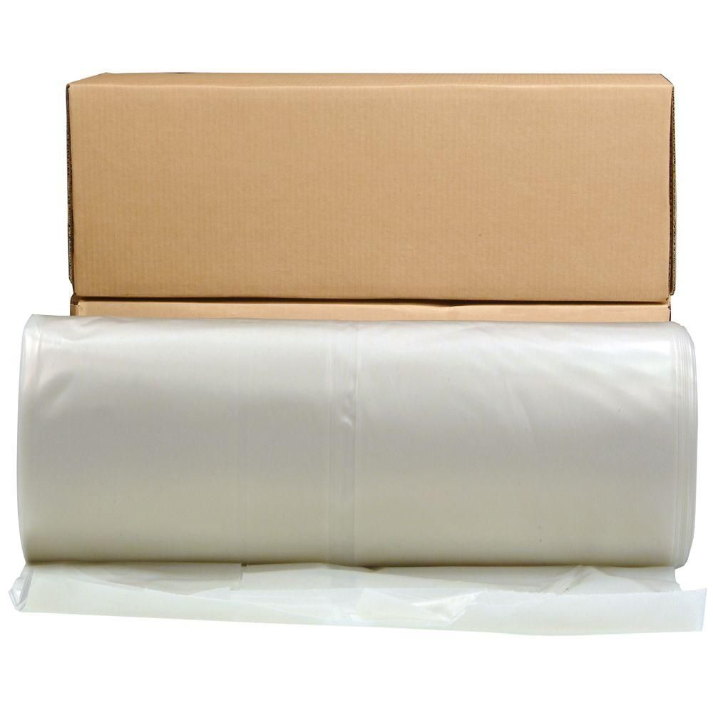 Husky 12 Ft X 100 Ft 6 Mil Flame Retardant Plastic Sheeting Cffr0612 The Home Depot Plastic Plastic Sheets Clear Plastic Sheets