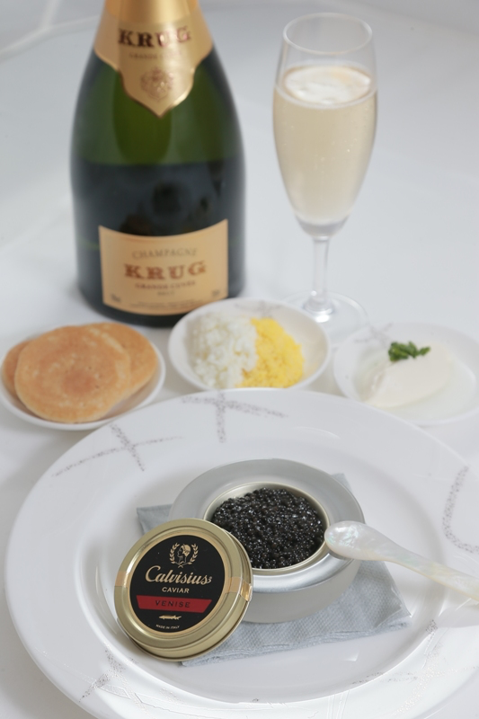 Cathay Caviar1 First Class Airline Caviar Service