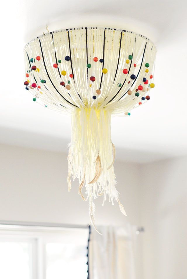 diy eames inspired bohemian pendant lamp cover w out rewiring rh pinterest com
