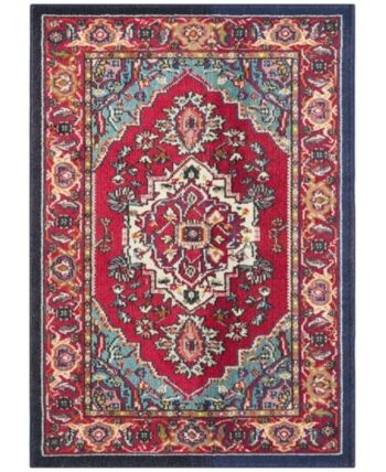Safavieh Monaco Red And Turquoise 10 X 14 Area Rug Reviews Rugs Macy S Persian Carpet Carpet Runner Area Rugs