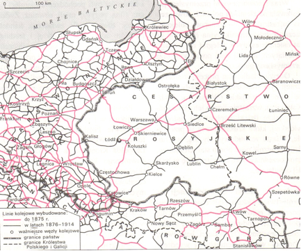 Rail Network Difference Between German And Russian Partition
